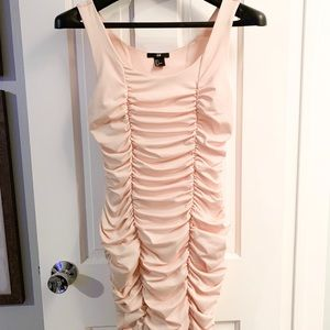 H&M Blush Pink Rushed Dress